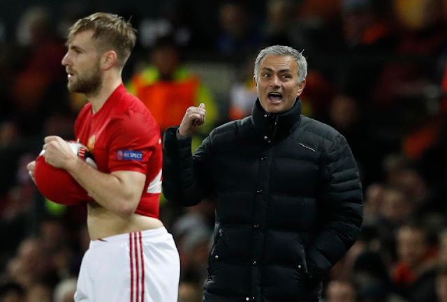 Luke Shaw and Mourinho
