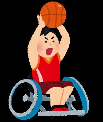 車いすバスケットボールのイラスト(パラリンピック)