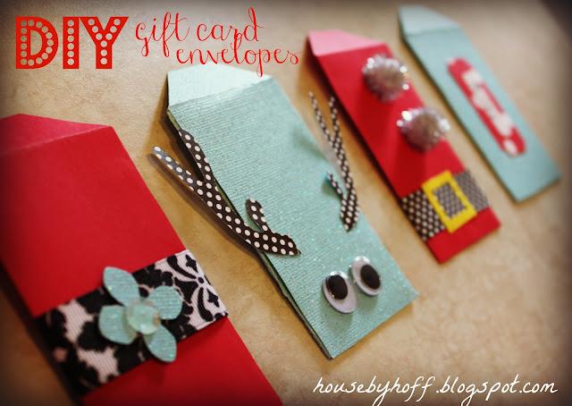 Sobres para tarjetas regalo