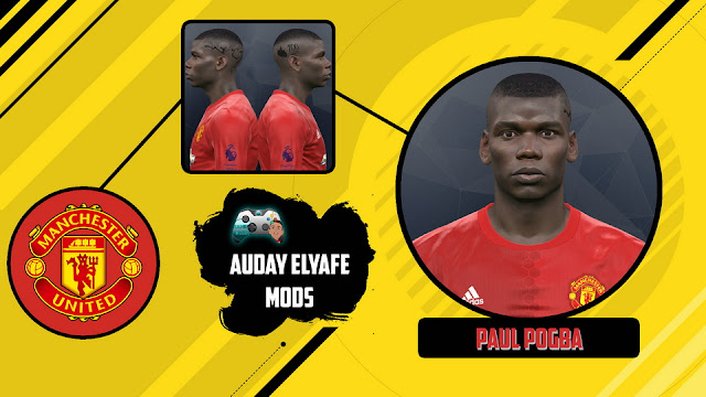 PES 2017 Paul Pogba Face by Auday Elyafe