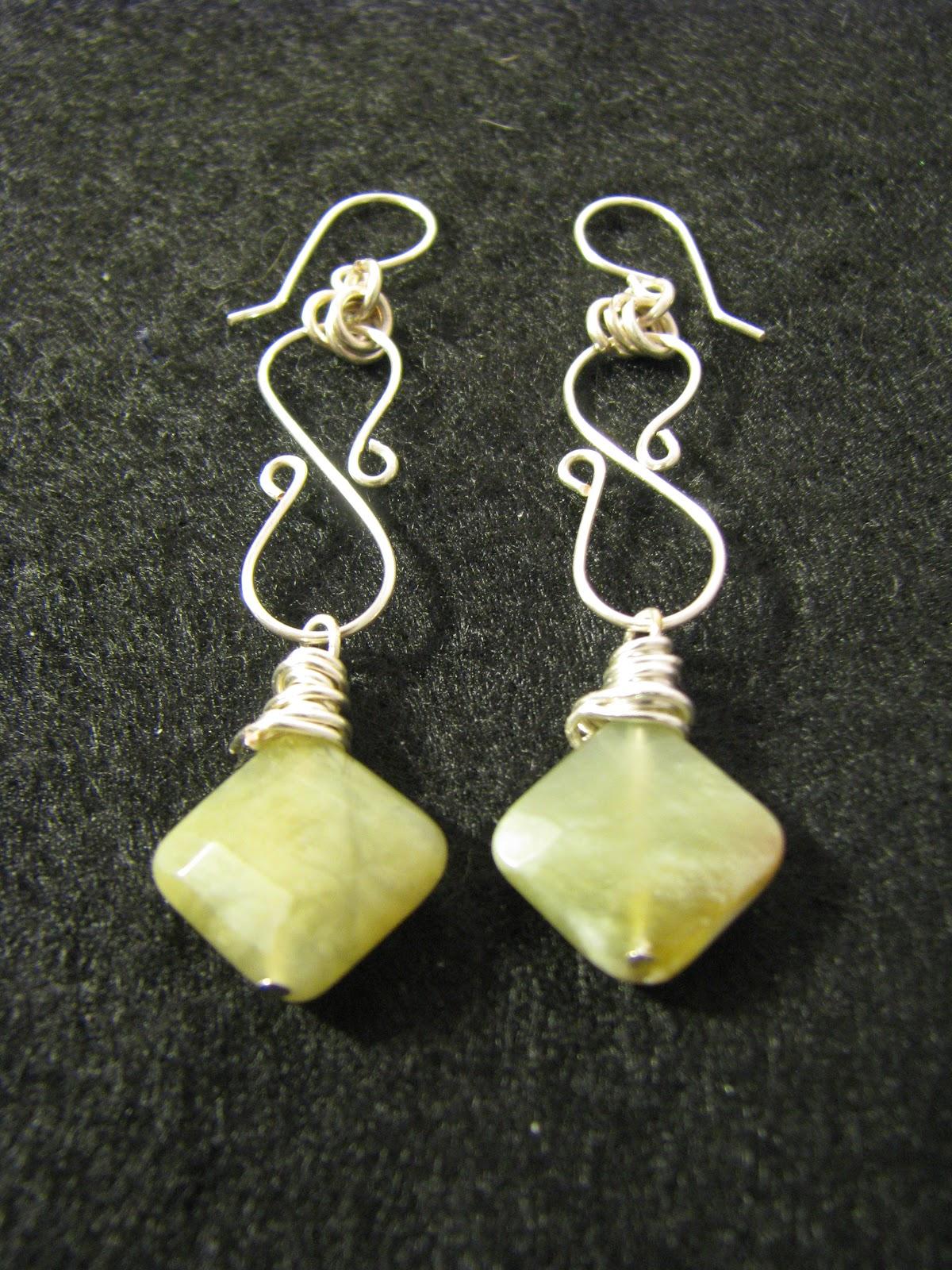 Designs By Debby: Swirled Wire Earrings