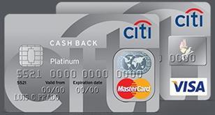 Cartão Citibank Cash Back Platinum