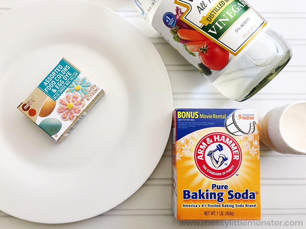 science experiment for kids - baking soda and vinegar