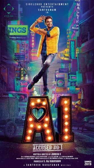 A1 next upcoming tamil movie first look, Poster of movie Santhanam, Tara Alisha, Rajendran download first look Poster, release date