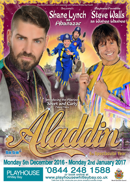Blue Genie presents Aladdin at Whitley Bay Playhouse | A Review - Pantomime poster