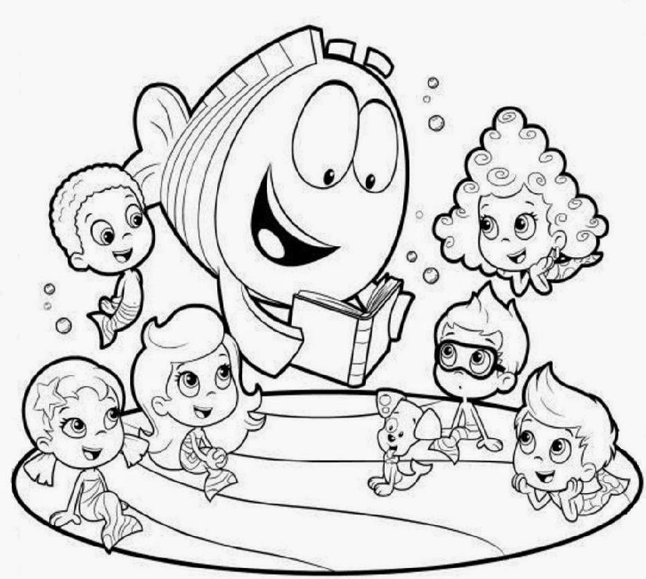 Bubble Guppies Christmas Coloring Pages Coloring Pages