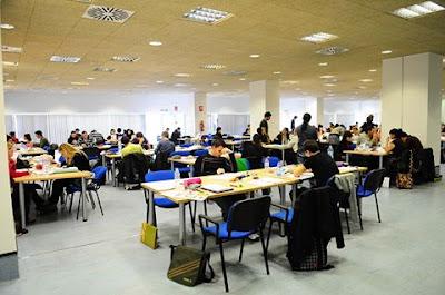 Horario de la Sala de Estudio de la Biblioteca General María Moliner en período de exámenes.
