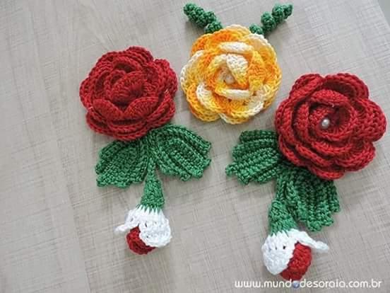 Cómo tejer una rosa a crochet - FotoTutorial