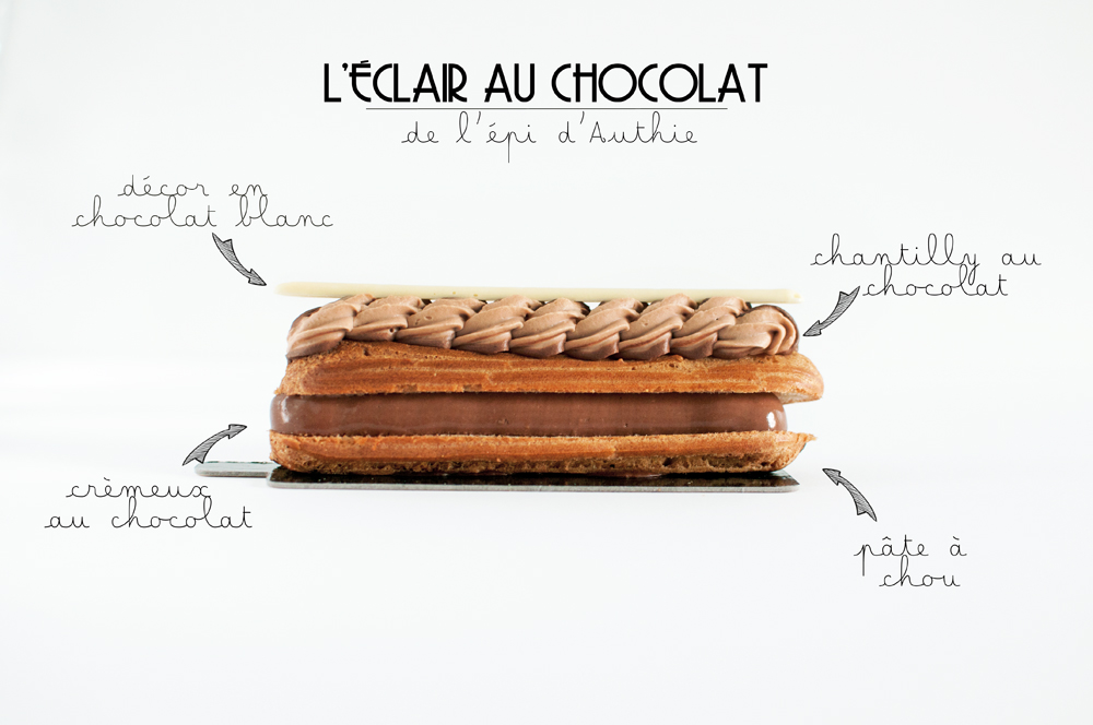 description de l'éclair au chocolat de la boulangerie l'épi d'Authie