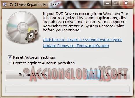 Reparar iconos de Unidades de DVD y Discos Duros