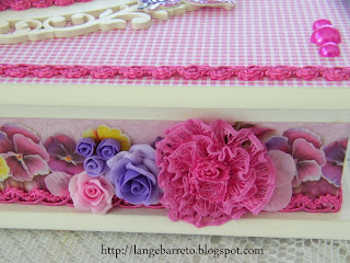 Flor artesanal flor porcelana fria