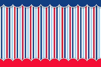 Kit grátis para imprimir Azul, branco e vermelho! Image