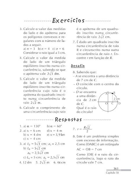 Exercicios de circunferencia