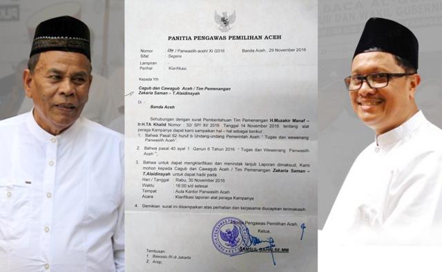 Tim Pemenangan ZAKAT Klarifikasi Laporan Tim Pemenangan H. Muzakir Manaf – Ir. H. TA. Khalid, MM