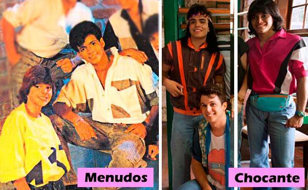 Menudos e chocantes moda anos 80