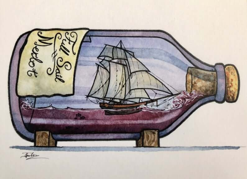 10-Full-Sail-Merlot-Jon-Guerdrum-Ship-in-a-Bottle-Drawings-and-Paintings-www-designstack-co