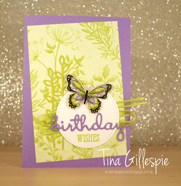 scissorspapercard, Stampin' Up!, Sale-A-Bration, Botanical Butterfly DSP, Well Said Bundle, Stitched Shapes Framelits