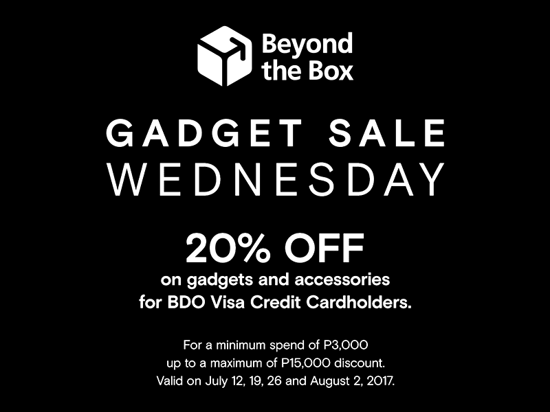 The Gadget Sale Wednesday promo by Beyond the Box