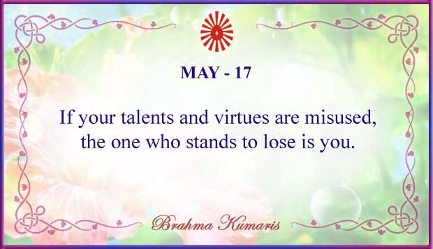 Thought For The Day May 17