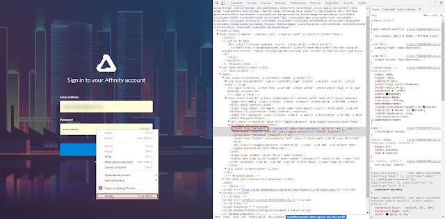 Skorzystanie z funkcji Zbadaj w przeglądarce Chrome