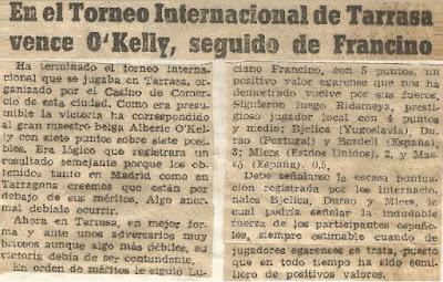 I Torneo Internacional de Terrassa 1960, crónica final en Mundo Deportivo