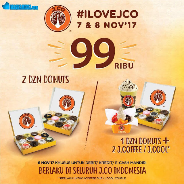 Promo J.Co #ILOVEJCO - 2 Lusin Donut Rp. 99ribu, 2 JCOFFEE due/JCOOL Couple Rp. 50ribu