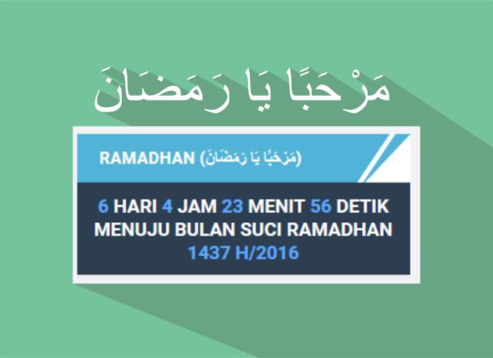 Cara Memasang Widget Hitung Mundur Bulan Ramadhan 1438 H/2017 Di Blog