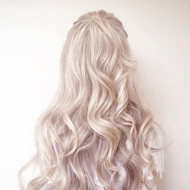 Hair Half Up Half Down, Soft Curls