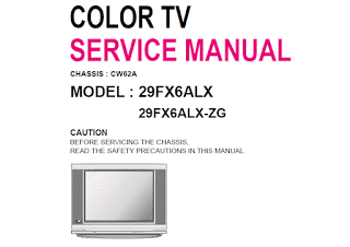 Skema TV LG 29FX6ALX-ZG Chassis CW62A