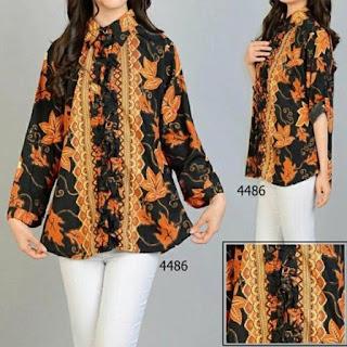 model baju batik atasan motif parang