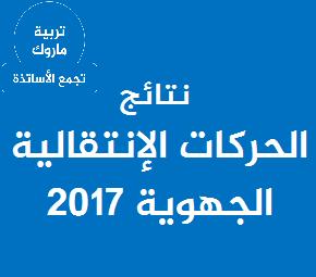 نتائج الحركة الإنتقالية الجهوية 2017