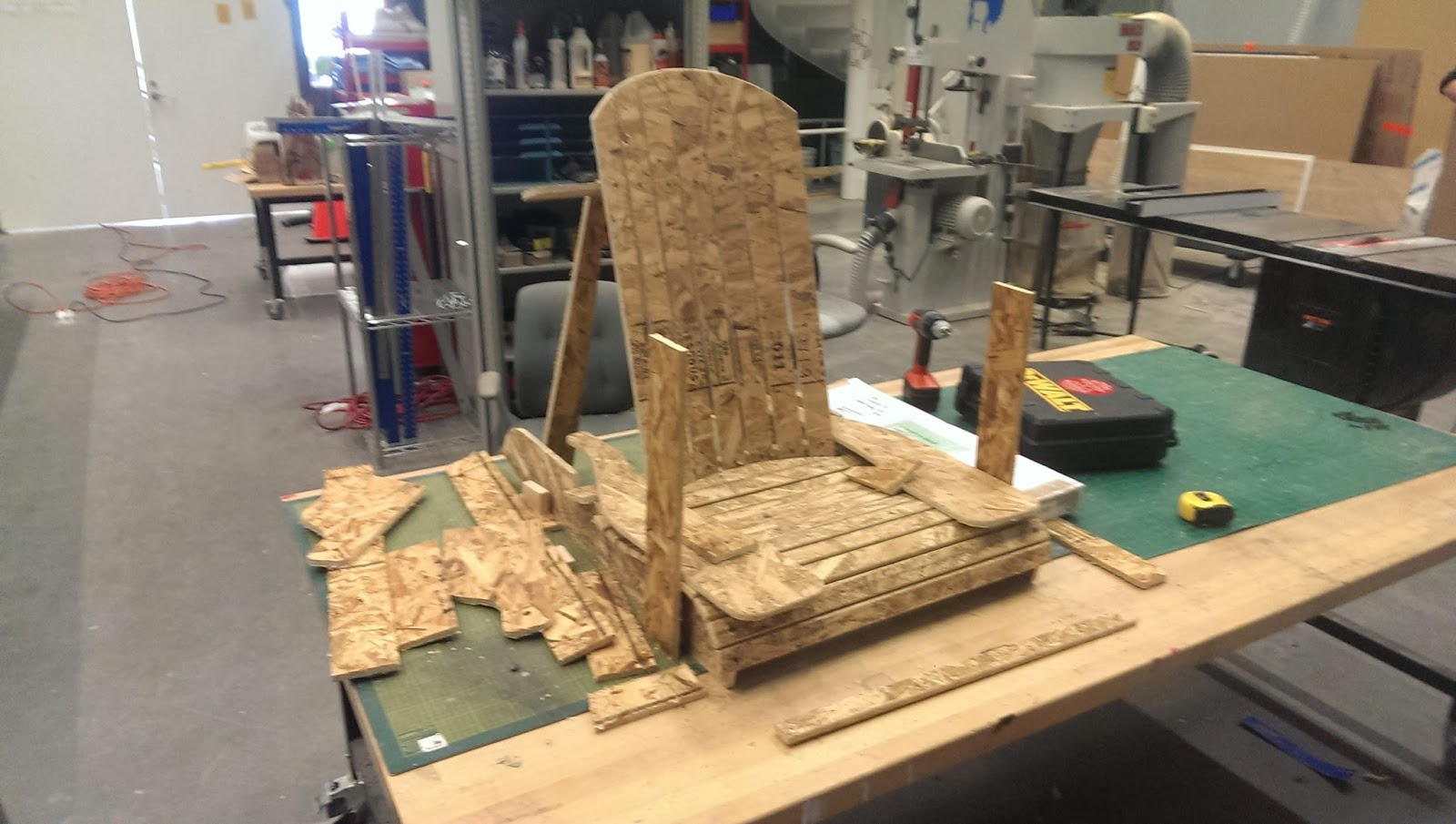 adirondack chair plans dxf pier one parsons slipcover milling mock up from osb shop bot 3