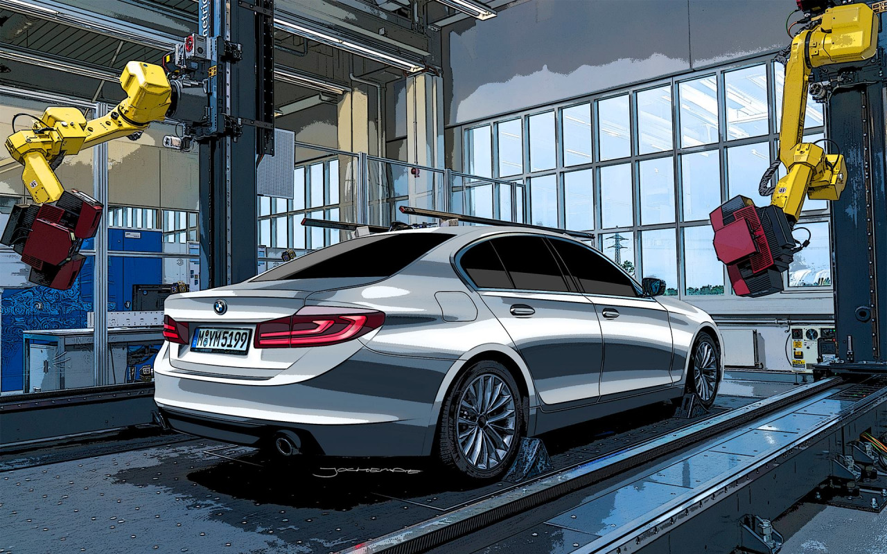 serie 5 g30 bmw g30 5 series rendering takes 7 series styling cues more leaked photos of the. Black Bedroom Furniture Sets. Home Design Ideas