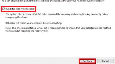 Run BitLocker System check