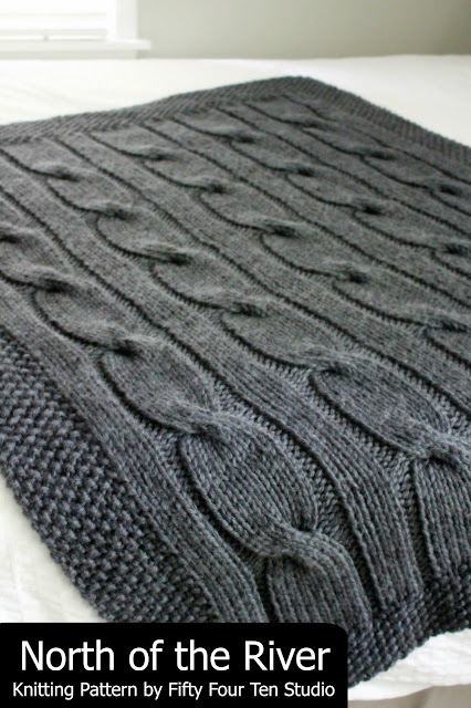Fifty Four Ten Studio North Of The River New Chunky Cable Blanket