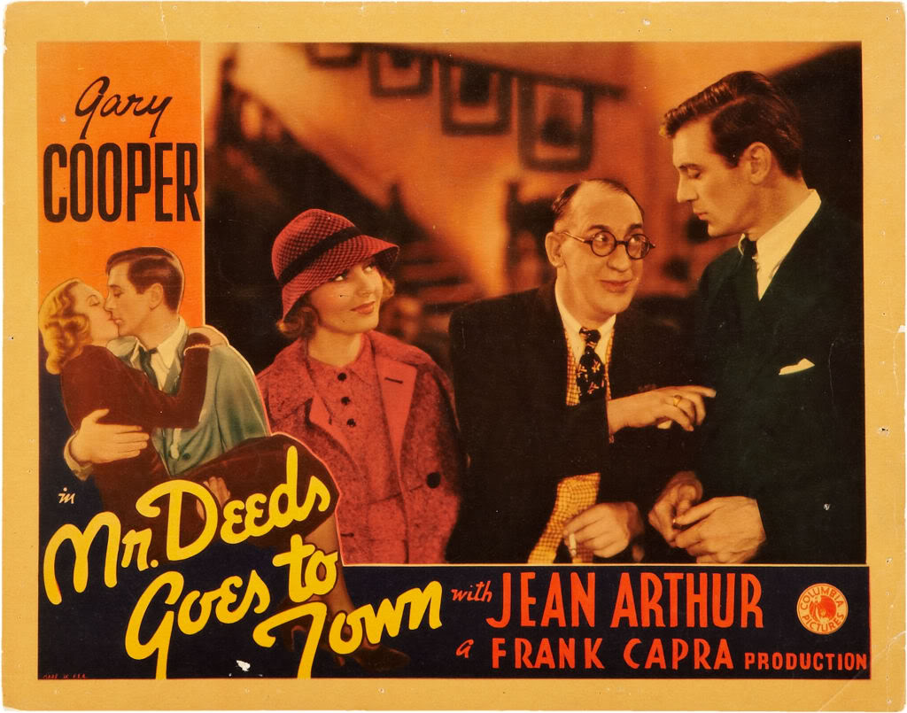 Gary Cooper In The Movie Mr Deeds Goes To Town 1936 Gif