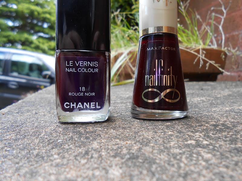 nails chanel 39 s rouge noir and a dupe laurzrah. Black Bedroom Furniture Sets. Home Design Ideas