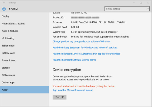 كيفية تشغيل ميزة تشفير الجهاز في ويندوز 10