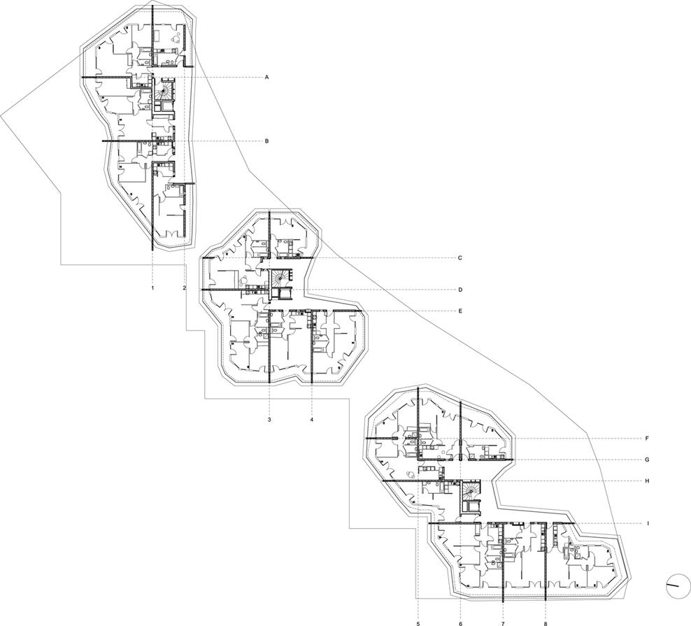 Floor plan 2 drawing © courtesy of jakob macfarlane architectes