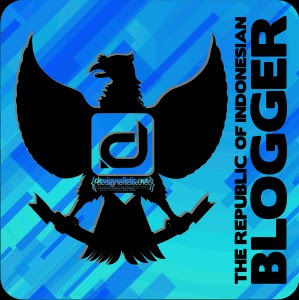 Logo blogger Indonesia biru