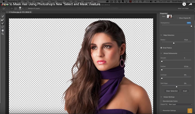"How to Mask Hair Using Photoshop's New ""Select and Mask"" Feature"