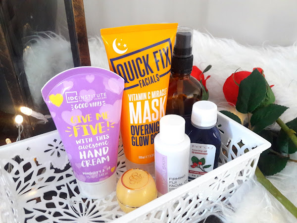 Bedside beauty products - winter edition
