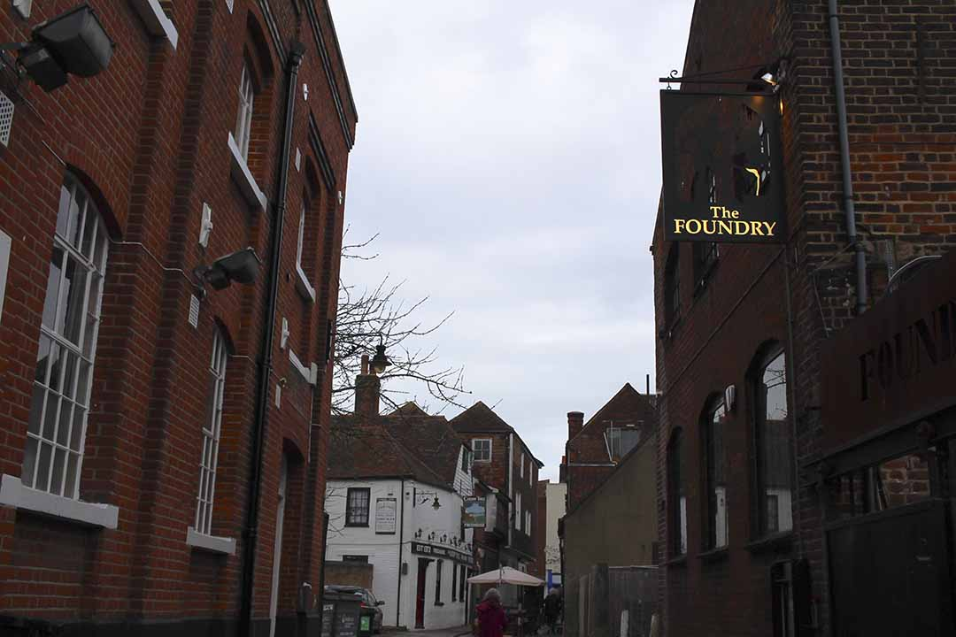 The Foundry, Canterbury Cathedral, Canterbury street, kent, visiting, town, architecture, street photography,