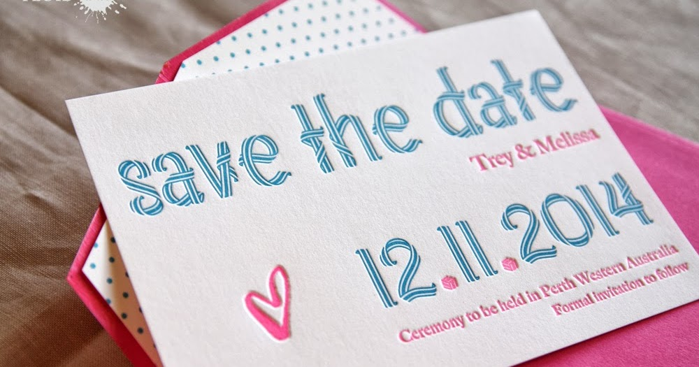 Ways To Save On Wedding Invitations: Fluid Ink Fine Letterpress Of Australia: I Did It My Way