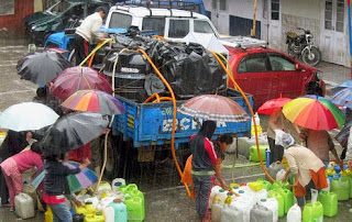 water supply in darjeeling through truck