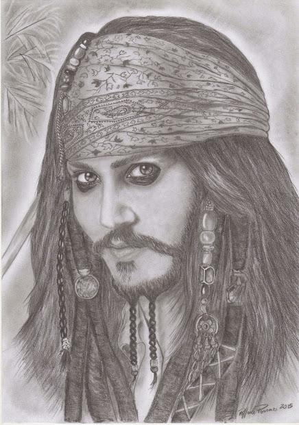 Miei Disegni Drawings Johnny Depp - Jack Sparrow