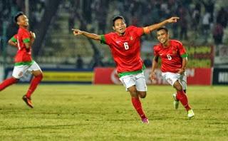 Indonesia berjumpa dengan Laos di pertandingan pertama babak penyisihan Kualifikasi Piala Hasil Timnas U-19 vs Laos 8 Oktober 2013
