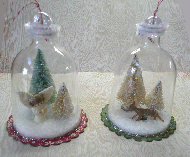 Dream Create Inspire Snow Globe Ornaments