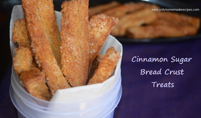 Cinnamon Sugar Bread Crust Treats, Leftover Cinnamon Sugar Breadsticks Recipe