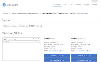 تحميل متصفح الأنترنيت Chromium 59.0.3046.0 آخر إصدار